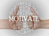 Motivate cloud concept — Stock Photo