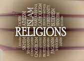 Religions word cloud — Stock Photo