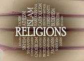 Religions word cloud — Stock Photo