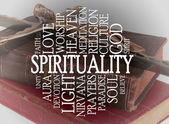 Nuvem de palavra de espiritualidade — Fotografia Stock