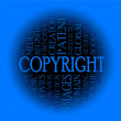Copyright word cloud concept — Stock Photo