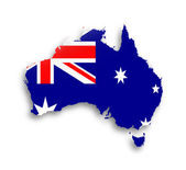 Australia map with the flag inside — Stock Photo