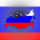 Map of Russia with flag inside — Stock Photo