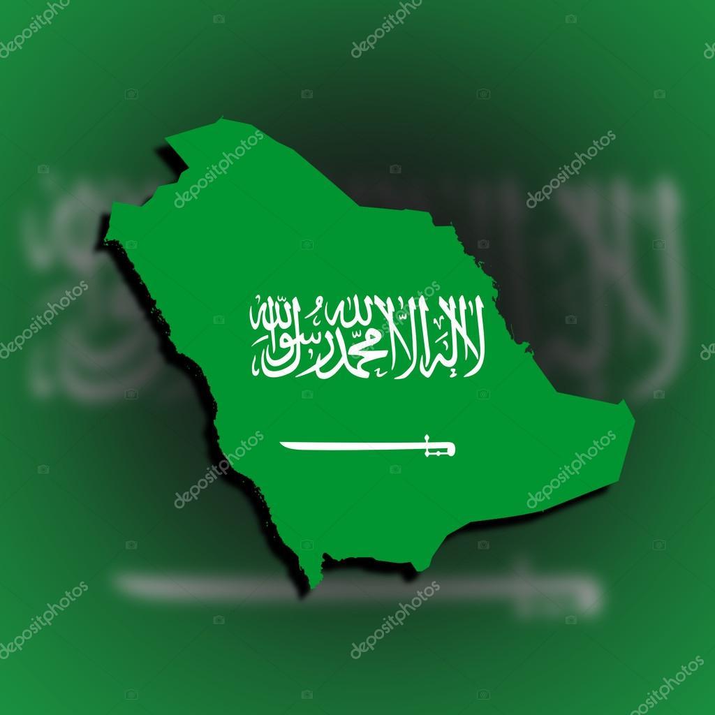 Saudi Arabia Map Flag Saudi Arabia Map Filled With