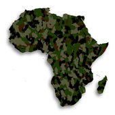 Map of Africa filled with camouflage pattern — Stock Photo