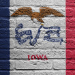 Stock Photo: Brick wall with painting of flag, Iowa