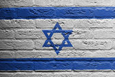 Brick wall with a painting of a flag, Israel — Stock Photo