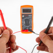 Digital multimeter isolated — Stock Photo