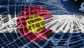 Broken ice or glass with a flag pattern, Colorado — Stock Photo