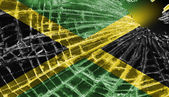 Broken ice or glass with a flag pattern, Jamaica — Stock Photo