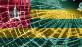 Broken ice or glass with a flag pattern, Togo — Stock Photo