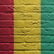 Brick wall with a painting of a flag, Guinea - Lizenzfreies Foto
