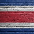 Brick wall with a painting of a flag, Thailand — Stock Photo