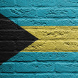 Brick wall with a painting of a flag, The Bahamas — Stock Photo