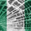 Stock Photo: Broken glass or ice with flag, Nigeria