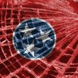 Broken glass or ice with a flag, Tennessee - Stock Photo