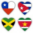 Flags in the shape of a heart, coutries — Stock Photo #21939159