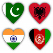 Flags in the shape of a heart, coutries — Stock Photo #21939179