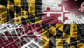 Broken glass or ice with a flag, Maryland — Stock Photo