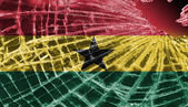 Broken glass or ice with a flag, Ghana — Stock Photo