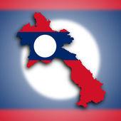 Map of Laos — Stock Photo