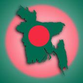 Map of Bangladesh — Stock Photo