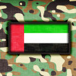 Amy camouflage uniform, The UAE — Stock Photo