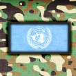 Amy camouflage uniform, UN — Stock Photo