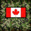 Amy camouflage uniform, Canada — Foto de Stock