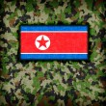 Amy camouflage uniform, North Korea — Stock Photo