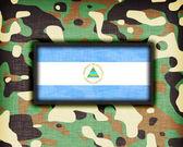 Amy kamouflage uniform, nicaragua — Stockfoto