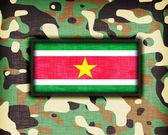 Amy camouflage uniform, Suriname — Stock Photo