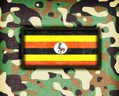Amy camouflage uniform, Uganda — Stock Photo