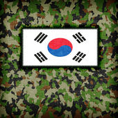 Amy camouflage uniform, South Korea — Stock Photo