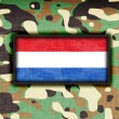 Amy camouflage uniform, the Netherlands — Stock Photo