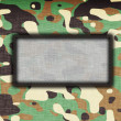 Amy camouflage uniform — Stock Photo