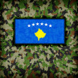 Stock Photo: Amy camouflage uniform, Kosovo