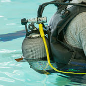 Close-up of a scuba diver — Stock Photo