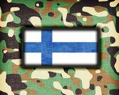 Amy Camouflage Uniform, Finnland — Stockfoto