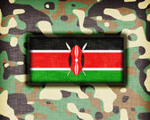 Amy camouflage uniform, Kenya — Stock Photo