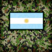 Amy camouflage uniform, Argentina — Stock Photo