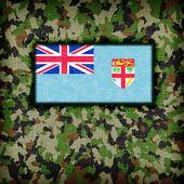 Uniforme de camouflage d'amy, fidji — Photo