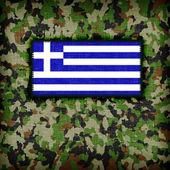 Amy camouflage uniform, Greece — Stock Photo