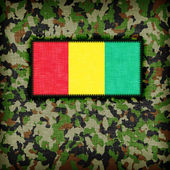 Amy camouflage uniform, Guinea — Stock Photo