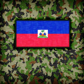 Amy camouflage uniform, haiti — Stockfoto