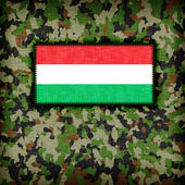 Amy camouflage uniform, Hungary — Stock Photo