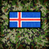 Amy camouflage uniform, Iceland — Stock Photo