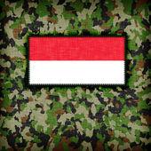 Amy camouflage uniform, Indonesia — Zdjęcie stockowe