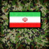 Amy kamouflage uniform, iran — Stockfoto