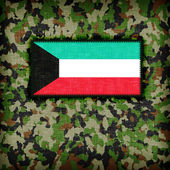 Amy kamouflage uniform, kuwait — Stockfoto